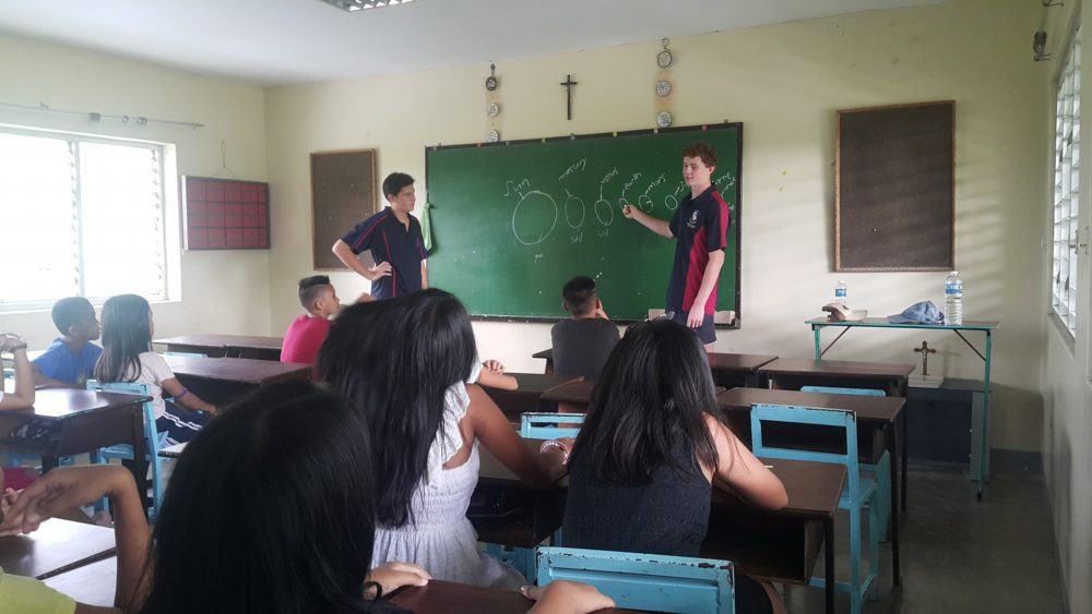 Joeys boys teaching in the Philippines