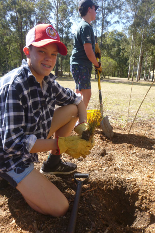Joeys boys planting at Colo