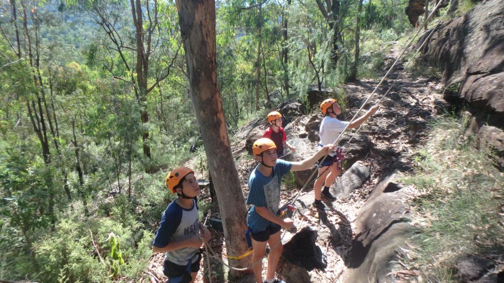 Joeys boys rock climbing at Colo