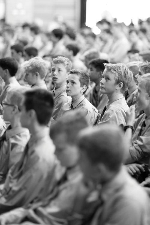 Joeys boys at assembly