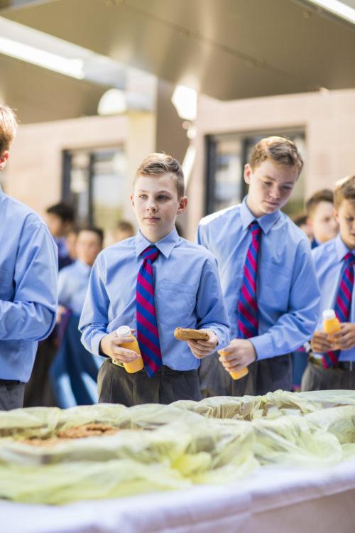 Year 7 boys getting recess