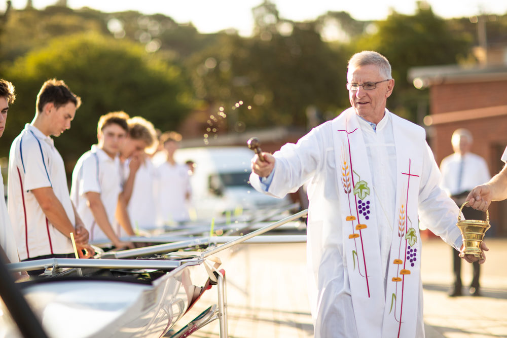 Blessing of rowing boat