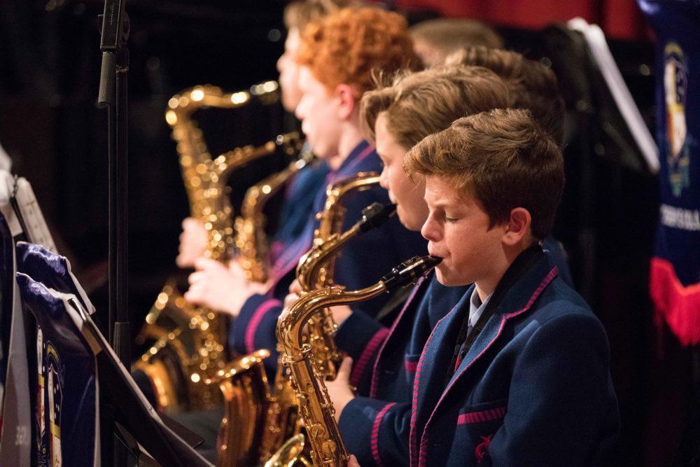 Joeys boys play musical instruments