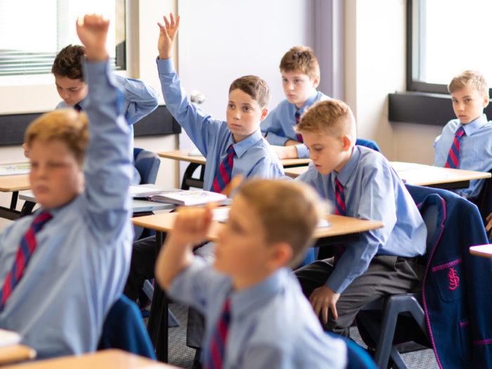 Joeys Year 7 boys learning in classroom