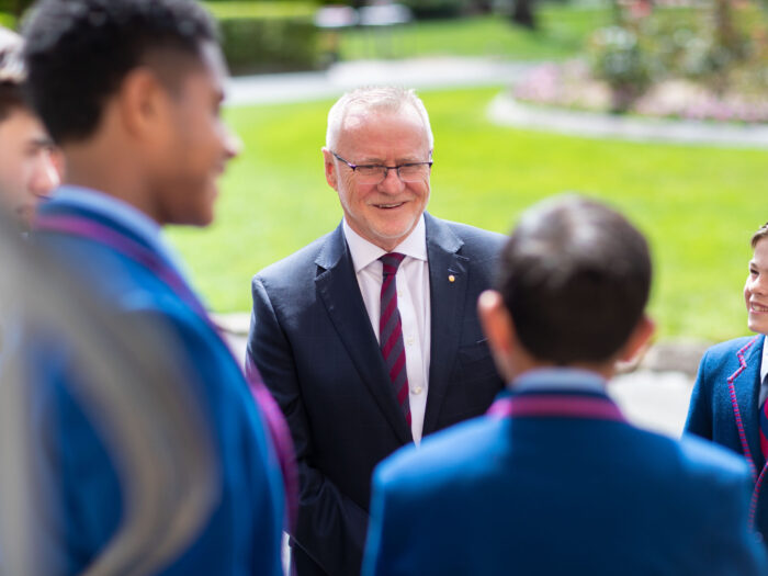 Joeys Headmaster with students