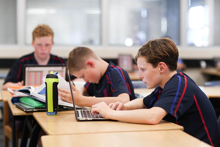 Joeys boys in classroom