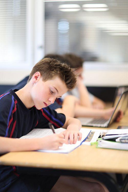 Joeys boy in classroom