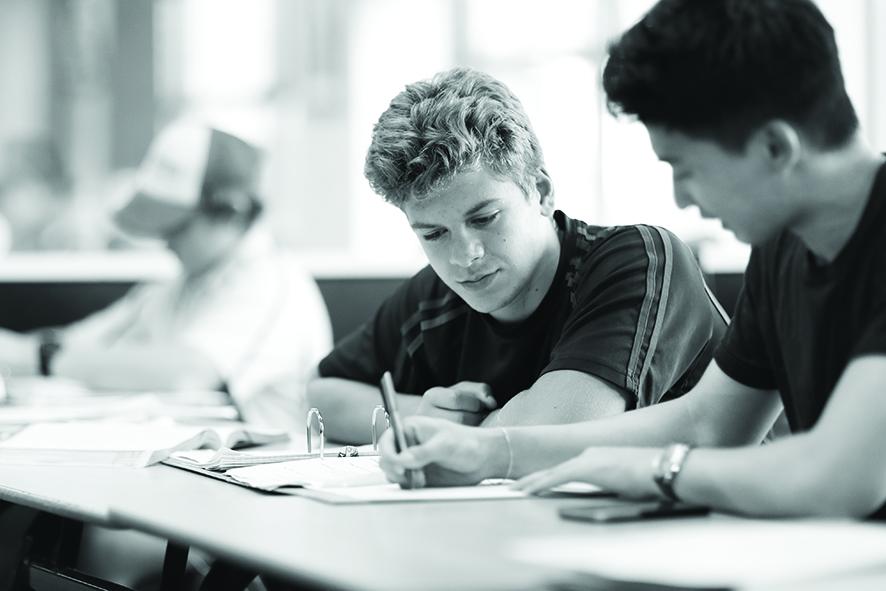 Joeys boys in classroom learning